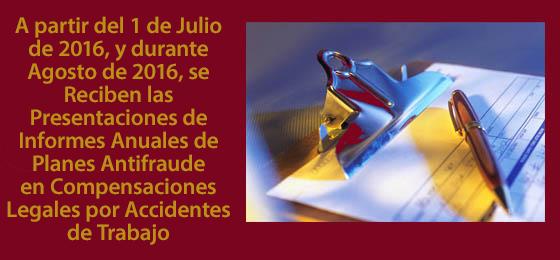Presentación Antifraude por Compensación Legal por Accidentes en el Trabajo, AF 15-16