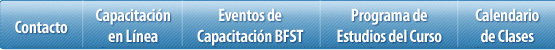 Menú de Capacitación de BFST