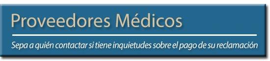 Encabezado de Proveedores Médicos