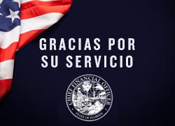 Gracias por su Servicio