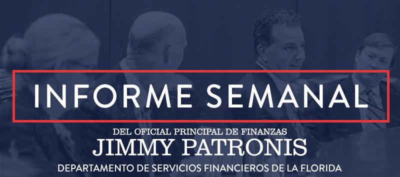 Boletín de Informe Semanal del Oficial Principal de Finanzas Patronis