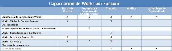 Gráfico de Capacitación de Works por Función