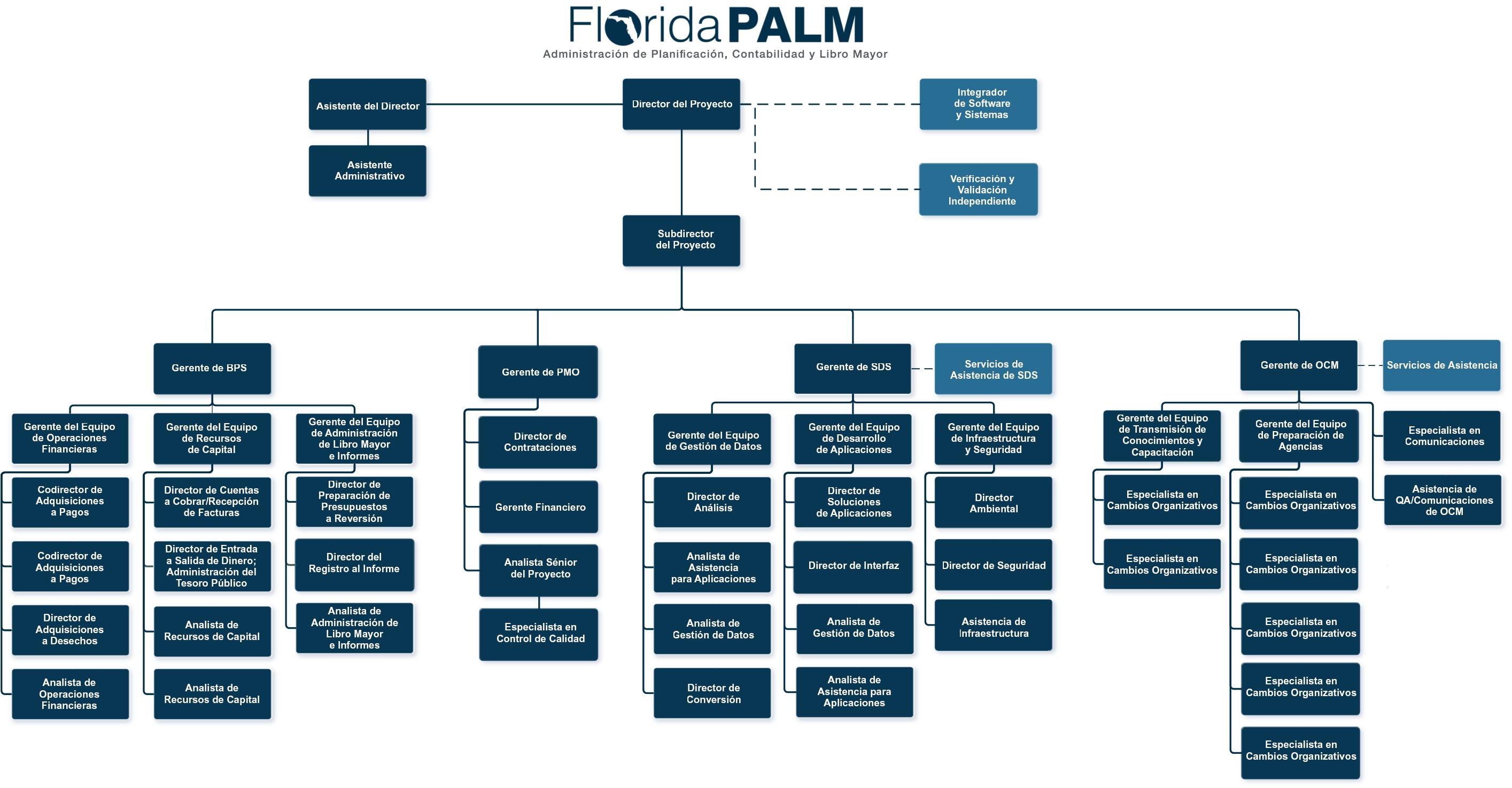 Organigrama de Florida Palm