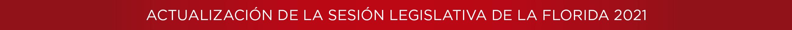 Actualización de la Sesión Legislativa de la Florida2021