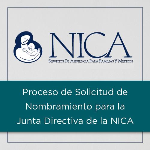 Proceso de Solicitud de Nombramiento para la Junta Directiva de la NICA