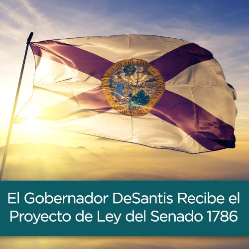 El Gobernador DeSantis Recibe el Proyecto de Ley del Senado 1786 - PDF del Email sobre la NICA de la ICA Tasha Carter