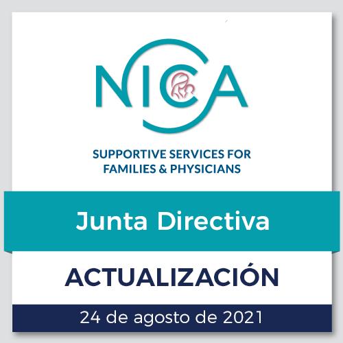 Actualización de la Junta Directiva de la NICA: 24 de agosto de 2021