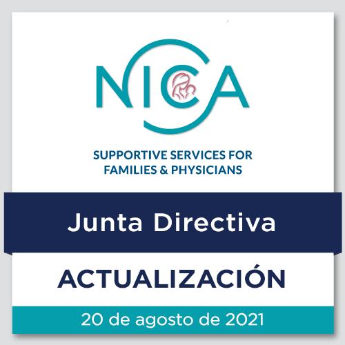 Actualización de la Junta Directiva de la NICA: 20 de agosto de 2021