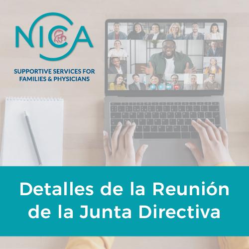 Detalles de la Reunión de la Junta Directiva de la NICA